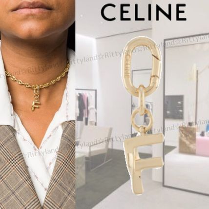 【20AW】★CELINE★F イニシャル ネックレス