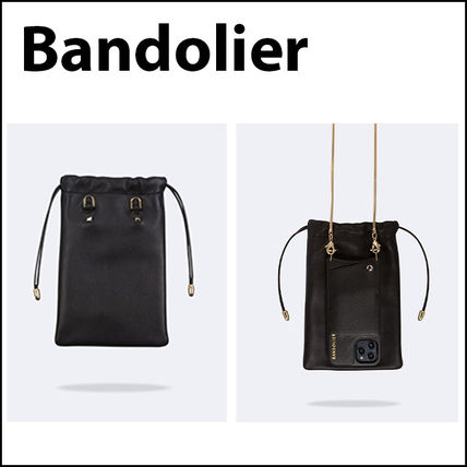 【Bandolier】巾着ポーチ☆Drawstring Smooth Leather Pouch