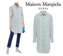 Maison Margiela☆Metallic shell-trimmed checked cotton shirt