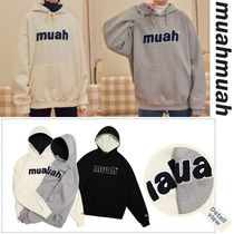 ★20-21FW★MUAHMUAH★BOLD BOUCLE STITCH NAPPING HOODIE_3色