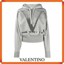 VALENTINO JERSEY SWEATSHIRT WITH VLOGO SIGNATURE EMBROIDERY