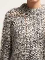 Ganni セール☆mohair and wool-blend sweater (grey)