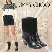 【JIMMY CHOO】Bear 65 leather and suede boots 479248