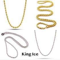 送料込 King Ice4mm 14K Gold Stainless Steel Rope Chain