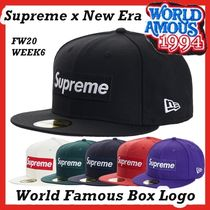 Supreme World Famous Box Logo New Era Cap AW FW 20 WEEK 6