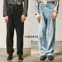 【13MONTHS】20fw DIAGONAL BUTTON JEANS デニム 2色
