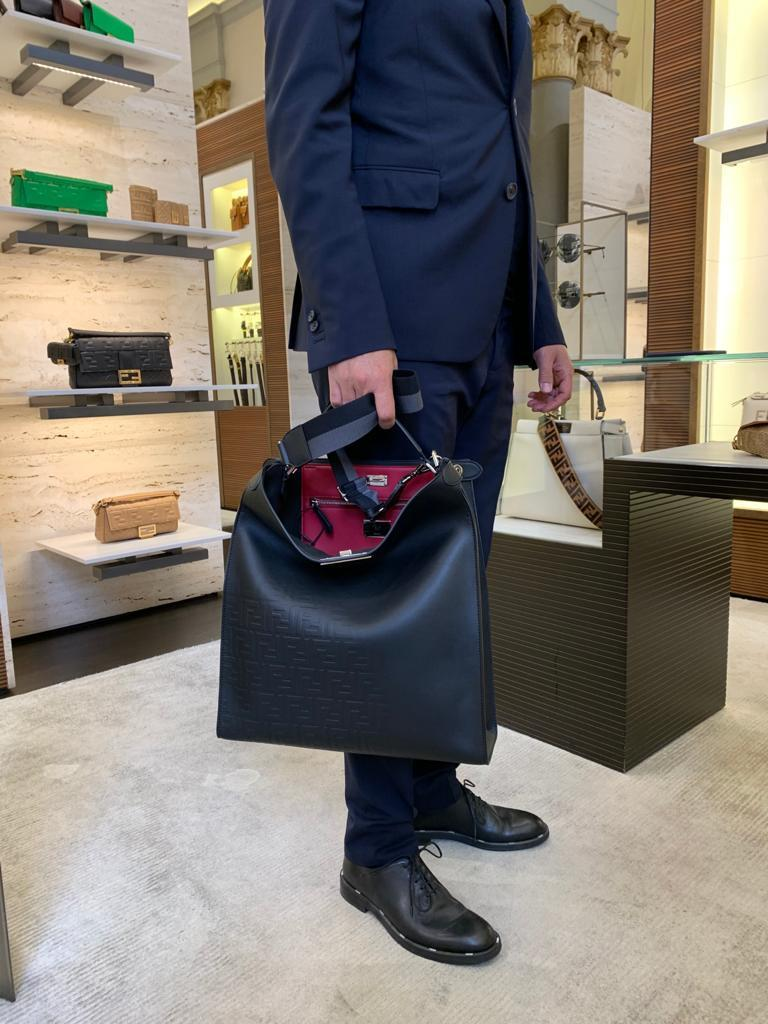 【FENDI】ピーカブー エックスライト フィット トートバッグ (FENDI/トートバッグ) 7VA447A9ZCF0GXN  7VA447A72VF0GXN