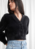 【& Other Stories】Cropped Boxy Knit Cardigan