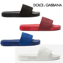 ドルチェ&ガッバーナ◆Rubber beachwear sliders with d&g logo