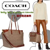Coach(コーチ) マザーズバッグ 【国内発送】直営店!マザーズバッグBaby Bag Signature Canvas