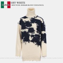 OFF WHITE MOO WOOL MOHAIR BLEND TURTLENECK