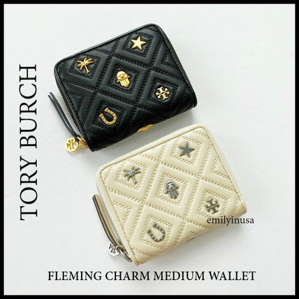 半額セール TORY BURCH★FLEMING CHARM MEDIUM WALLET