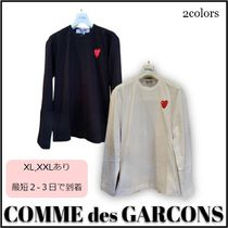 【COMME des GARCONS】★wエンブレム*長袖*Tシャツ★全2色★