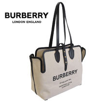 BURBERRY トートバッグ ソフトコットンキャンバス 8031318-A1189