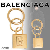 【BALENCIAGA】AW ロック チェーン 南京錠 モチーフ キーリング