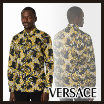 【Versace】ロゴ バロック シャツ