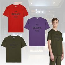 20 Winter★新作★Berluti★Cotton Logo T-Shirt ロゴ Tシャツ