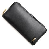 SAINT LAURENT LONG ZIP WALLET	630201	02G0W	1000	BLACK/GOLD