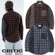 ★CRITIC★CHECK BLOCK SHIRTS 2色