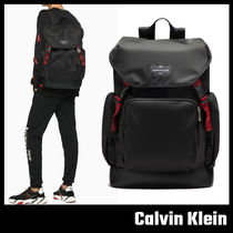 【Calvin Klein】NYLON FLAP BACKPACK