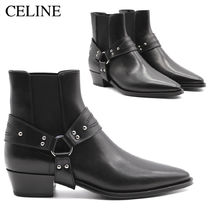 CELINE CAMARGUE CHELSEA BOOT HARNESS IN VEGETAL CALFSKIN