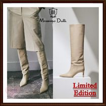 【Massimo dutti】LIMITED EDITION!レザーニーハイブーツ