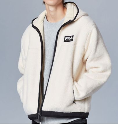 ★FILA★日本未入荷★ HOOD ZIP-UP BOA JACKET LIGHT BEIGE