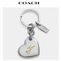 2020 NEW! COACH ◆ horse and carriage heart bag charm