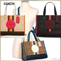 ★2WAY★COACH Dempsey Carryall In Signature Jacquard