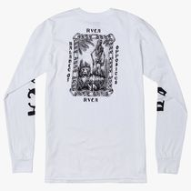 RVCA Tiger Portrait Long Sleeve T-Shirt White S Tシャツ