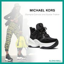 【Michael Kors】Olympia Canvas and Suede Trainer♪大人気♪