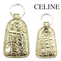CELINE KEY HOLDER IN LAMINATED CROCODILE EMBOSSED CALFSKIN