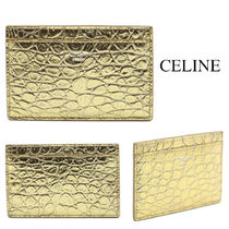 CELINE CARD HOLDER IN LAMINATED CROCODILE EMBOSSED CALFSKIN