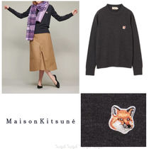 国内発送☆MAISON KITSUNE☆FOX HEAD PATCHウールセーター