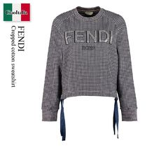 Fendi Cropped cotton sweatshirt