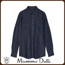 MassimoDutti♪LIMITED EDITION SLIM FIT DENIM SHIRT