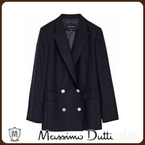 MassimoDutti♪100% WOOL FALSE DOUBLE-BREASTED BLAZER
