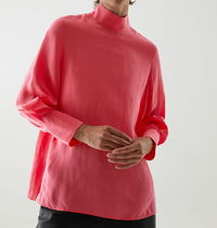 """COS"" SOFT VOLUMINOUS SLEEVE TOP PINK"
