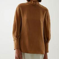 """COS"" SOFT VOLUMINOUS SLEEVE TOP CAMEL"