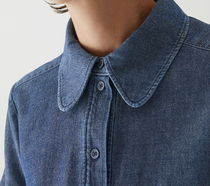 """COS"" SHRUNKEN DENIM SHIRT BLUE"