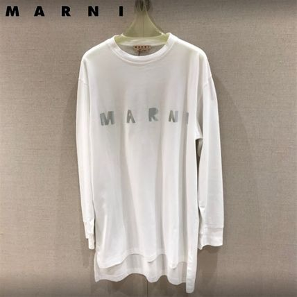 マルニ直営店◆Long-sleeved metallic logo T-shirt◆Tシャツ◆