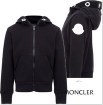 20aw☆MONCLER ロゴジップアップパーカー黒 12/14A【関税込】