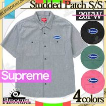 20FW /Supreme Studded Patch S/S Work Shirtワークシャツ