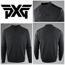 【PXG】☆ゴルフ☆アメリカ発☆1/4 ZIP SHOULDER PATCH SWEATER