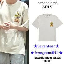 【ADLV】DRAWING SHORT SLEEVE T-SHIRT★Seventeen 着用★