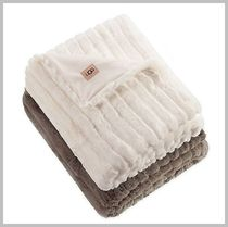☆UGG☆ Glenoak Ribbed Faux Fur Throw ブランケット
