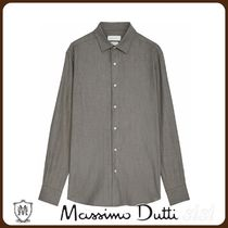 MassimoDutti♪100% COTTON SLIM-FIT HERRINGBONE SHIRT
