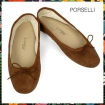 PORSELLI☆Ballet Flat Suede /スエードバレエシューズ Brown