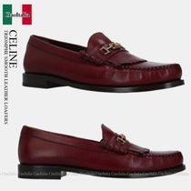 CELINE TRIOMPHE SMOOTH LEATHER LOAFERS