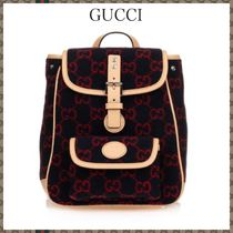 GUCCI☆グッチ Blue & Red GG Backpack ウールGGバックパック